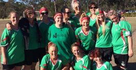 Alex with her soccer team – Australia