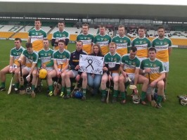 Meggie with Offaly Hurling team from Leinster – Ireland