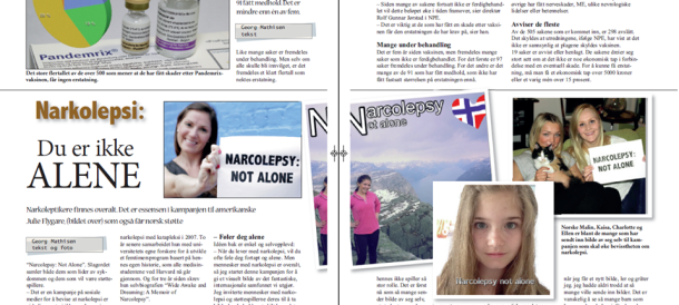 NARKOLEPSI: DU ER IKKE ALENE / NARCOLEPSY: NOT ALONE Featured in Norway