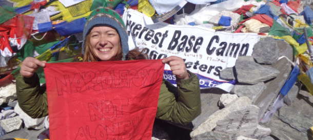 NARCOLEPSY: NOT ALONE reaches Everest Base Camp!